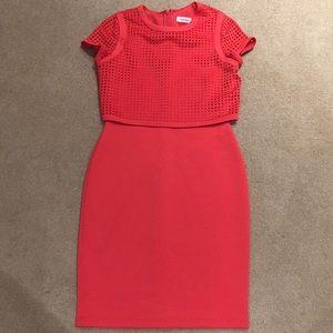 Calvin Klein Lazer Cut Dress